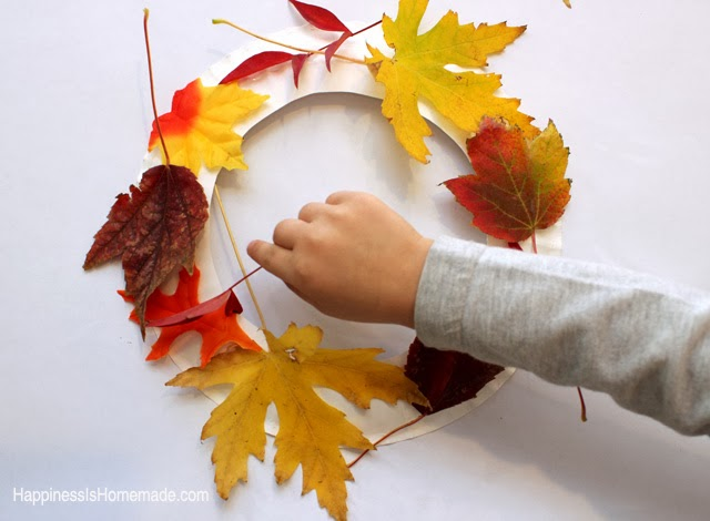 Making an Autumn Leaf Wreath