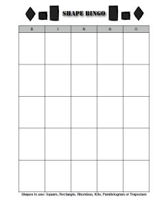 Shape Bingo Picture
